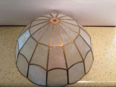 Shell Lamp Shade or Ceiling Light Fixture Shade