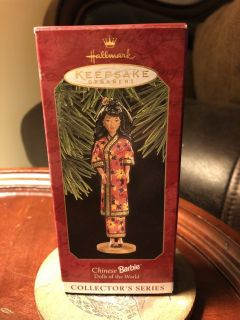 Hallmark keepsake ornament Chinese Barbie dolls of the world collector series