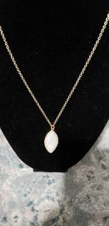 Druzy type necklace