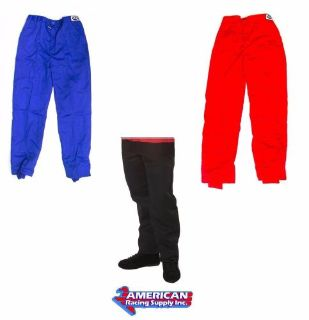 Purchase G-Force Racing GF125 Single Layer Pants SFI 3.2A/1 Black, Red or Blue motorcycle in Las Vegas, Nevada, United States, for US $69.95