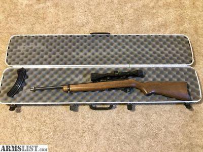 For Sale: Ruger 10/22 .22LR, wood stock, hard case