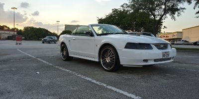 01 ford mustang on 20in staggered rims