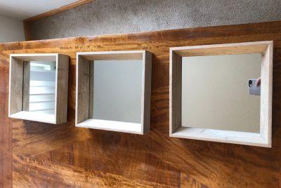 Set of 3 square mirrors