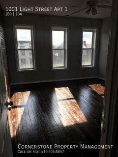 2 Beds 1 Bath $1450 | 1001 Light Street, Baltimore, MD 21230 | Federal Hill