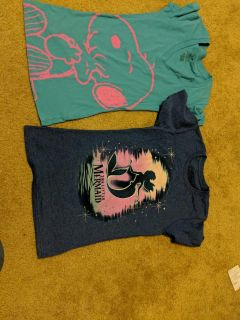 Two tee new t shirts: snoopy and little mermaid
