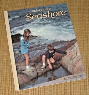 """Vintage 1984 """"Exploring The Seashore"""" Books for Young Explorers National Geographic Society Hard..."""