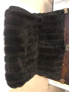 Faux fur throw pillows and small throw blanket