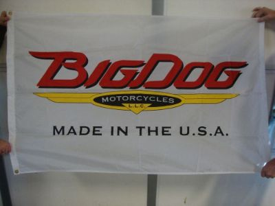 Purchase BIG DOG MOTORCYCLES VINTAGE LOGO FLAG INDOOR K-9 CHOPPER PITBULL MASTIFF MUTT motorcycle in Lyons, Kansas, United States, for US $49.99