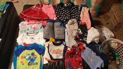12 to 18 month mixed lot of boy and girl clothes
