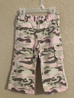 Levi s Pink Camouflage Cargo Jeans. Nice Condition. Size 18 Months