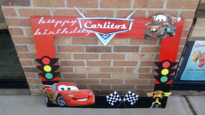 Cars Selfie Frame for a Birthday Party