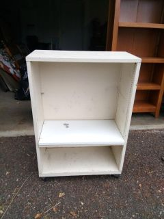 """BOOKCASE W/WHEELS 3'tall/2'length/11 1/2"""" wide"""