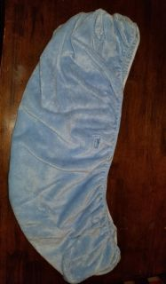 Baby Blue Soft Velour Fitted Bassinet Sheet