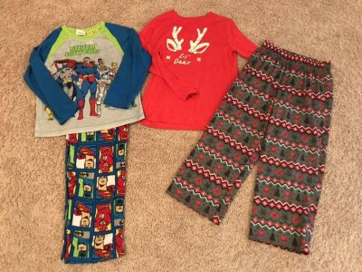 Size 8 pajamas, never put in dryer, guc, $4/all