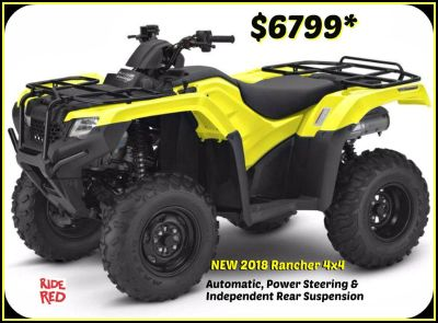 2018 Honda FourTrax Rancher 4x4 DCT IRS EPS Utility ATVs Erie, PA
