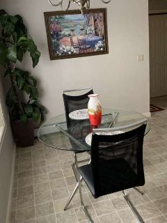 Glass Dining Table/2 Chairs