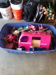 Barbies and Barbie toys