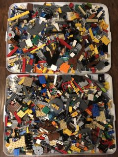 6+ pounds of Legos with minifigures