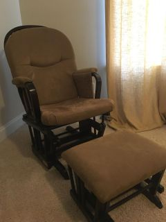 Shermag baby nursery glider/rocker chair and ottoman