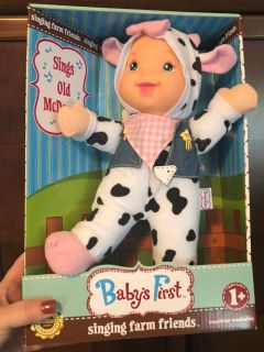 Baby s First singing plush baby doll - brand new in package