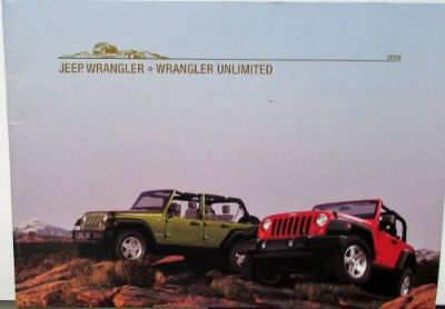 Purchase 2008 Jeep Wrangler & Wrangler Unlimited Rubicon Sahara X Original Sales Brochure motorcycle in Holts Summit, Missouri, United States, for US $17.08