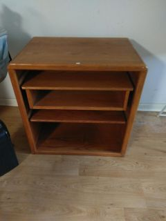 Heavy wooden TV stand