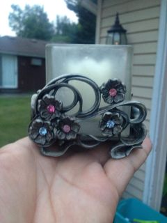 Metal & Glass Candle holder