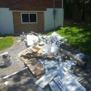 Debris/trash removal/laying mulch and much more