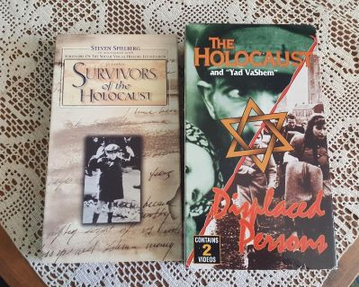 VHS Tapes - Survivors of the Holocaust / Holocaust and Yad VaShem