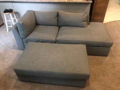 Custom Couch / Sofa and Ottoman