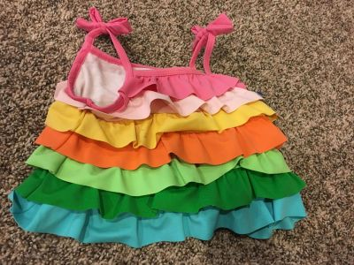 Gymboree ruffle swim top