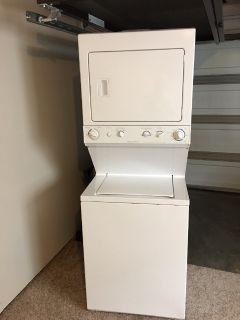 Space saver washer and dryer
