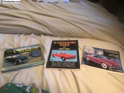 VW Karmann Ghia Books etc.