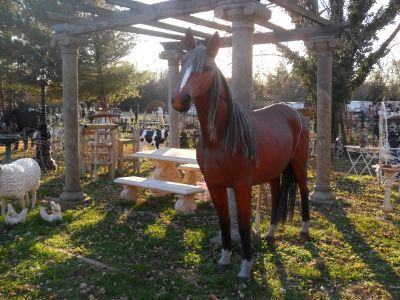 LIFE SIZE FIBERGLASS HORSE STATUE
