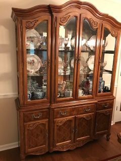 Wood and Glass China Cabinet