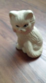 White Ceramic Kitten