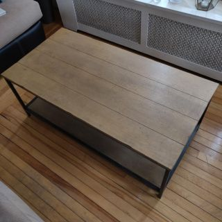 Coffee Table, Wood and Steel
