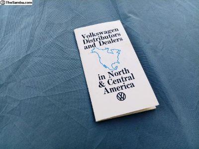 Volkswagen Distributors/Dealers America Booklet