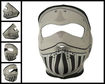 Purchase ZAN HEADGEAR REVERSIBLE GREY KNIGHT ARMOR HELMET NEOPRENE FULL FACE MASK BIKER motorcycle in Cibolo, Texas, United States, for US $13.00