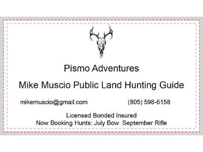 PISMO ADVENTURES MIKE MUSCIO PUBLIC LAND HUNTING ...