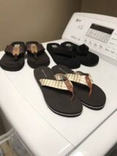Tommy Hilfiger flip flops and yellow box