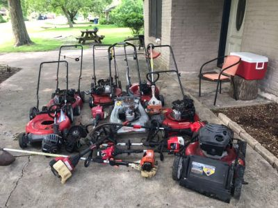 Mowers and weed eaters for parts, chainsaw and pressure washers too