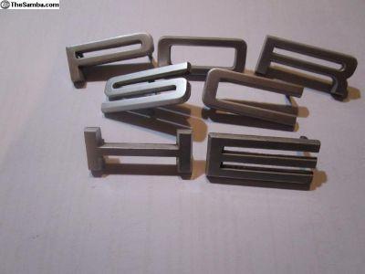 Porsche Silver Letter Set 911 912 914 Letters