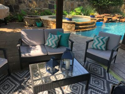 Complete Rattan Patio Set