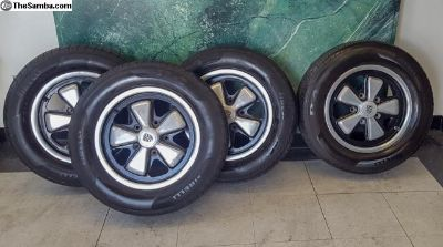 Genuine 1974 Fuchs 911 Wheels with Tires