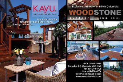 quality KAYU International, hard wood deck lumber  (British Columbia)