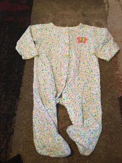 Carters 9m wht flower print onesie - ppu (near old chemstrand & 29) or PU @ the Marcus Pointe Thrift Store (on W st)