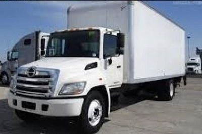 2020 Hino 268A with a 26ft van body and LIFTGATE