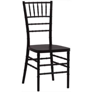 "Black Chiavari Hardwood Chair - Free 2"" Cushion"