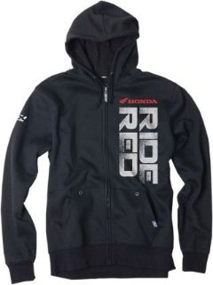 Purchase Factory Effex Logo Mens Screen Printed Zip Up Hoodie Honda Red Ride/Black motorcycle in Holland, Michigan, United States, for US $67.90